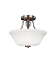 Elstead Evington 2 Light Semi-Flush (Satin Nickel)