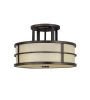 Elstead Fusion 3 Light Semi-Flush (Grecian Bronze)