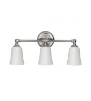 Elstead Huguenot Lake 3 Light Above Mirror Light (Polished Chrome)
