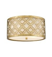 Elstead Arabella 2 Light Flush Mount (Distressed Gold)