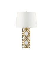 Elstead Arabella 1 Light Table Lamp (Distressed Gold)