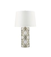 Elstead Arabella 1 Light Table Lamp (Distressed Silver)