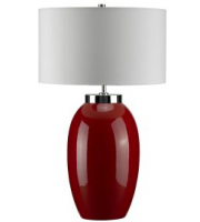 Elstead Victor 1 Light Large Table Lamp (Red)