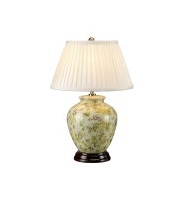Elstead 1 Light Table Lamp  Yellow Flowers (Yellow)