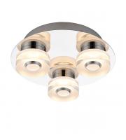 Saxby Lighting Rita 3 Light IP44 Bathroom Ceiling Light (Polished Chrome)
