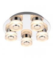 Saxby Lighting Rita 5 Light IP44 Bathroom Ceiling Light (Polished Chrome)