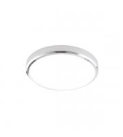 Endon Cobra XS 15W IP44 Round LED Bulkhead (Chrome/Opal)