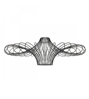 Endon Curl Pendant shade (Black) Non Electric