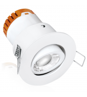 Enlite E5 Adjustable 4.5W Dimmable LED Downlight (Matt White)