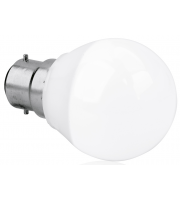 Aurora 240V B22 5W Dimmable Led Glass Golf Ball Lamp 2700K (Extra Warm White)
