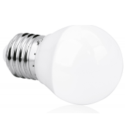 Aurora 240V E27 5W Dimmable Led Glass Golf Ball Lamp 2700K (Extra Warm White)