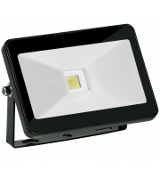 Aurora 265V 10W Adjustable IP65 Driverless Led Flood Light 6500K Black (Cool Daylight)