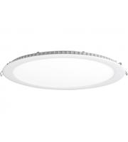 Aurora 100-240V 24W 1600lm Non Dim Low Profile Round Panel Light 4000K (Cool White)