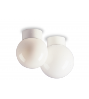 Firstlight Opal Glass Sphere Ceiling Light (White Opal)