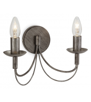 Firstlight Regency Twin Wall Light (Antique Silver)