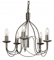 Firstlight Regency 5 Light Ceiling Pendant (Antique Silver)