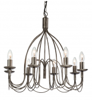 Firstlight Regency 8 Light Ceiling Pendant (Antique Silver)