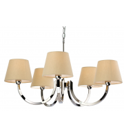 Firstlight Fairmont 5 Light Ceiling Pendant (Stainless Steel)