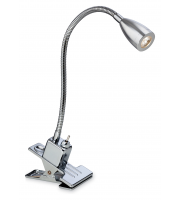 Firstlight Dune 2W LED Clip Desk Light (Chrome)