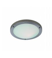 Firstlight Rondo Flush Ceiling Light (Brushed Steel)