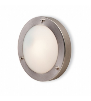 Firstlight Rondo Wall Flush Fitting (Brushed Steel)