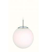 Firstlight Globe Ceiling Pendant (Brushed Steel/Opal)