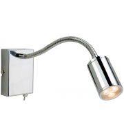 Firstlight Orion Flexible LED Wall Light (Brushed Steel)