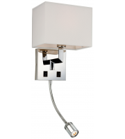 Firstlight Lex Twin Wall & Reading Light (Polished Stainless)