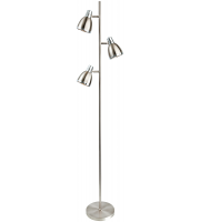 Firstlight Vogue Floor Lamp (Brushed Steel)