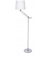 Firstlight Polo Floor Lamp (Brushed Steel)