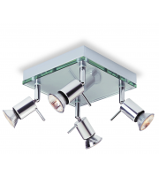Firstlight Aqua 4 Light Flush Ceiling Spotlight (Aluminium)