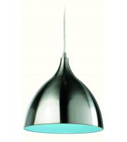Firstlight Cafe Ceiling Pendant (Brushed Steel/Blue)