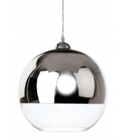 Firstlight Club Glass Ceiling Pendant (Chrome/Clear)