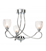 Firstlight Grove 3 Light Flush Ceiling Light (Polished Chrome)