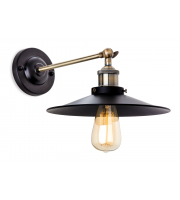 Firstlight Ashby Wall Light (Antique Brass/Black)