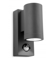 Firstlight Shelby Single LED Wall Light with PIR (Graphite)