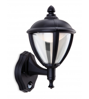 Firstlight Unite Outdoor LED Wall Light with PIR (Black)
