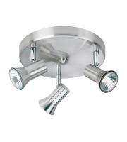 Firstlight Magnum Triple Flush Ceiling Light (Brushed Steel)