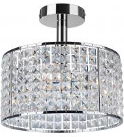 Firstlight Pearl 4 Light Semi Flush Ceiling Light (Chrome)