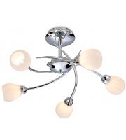 Firstlight Rena 5 Light Flush Ceiling Light (Chrome)