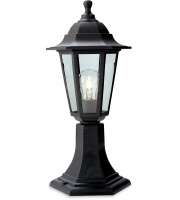 Firstlight Malmo Pillar Lantern (Black Resin) SALE ITEM