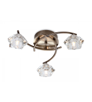 Firstlight Clara 3 Light Flush Fitting (Antique Brass)