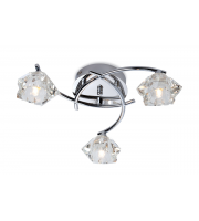 Firstlight Clara 3 Light Flush Fitting (Chrome)