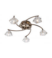Firstlight Clara 5 Light Flush Fitting (Antique Brass)