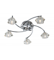 Firstlight Clara 5 Light Flush Fitting (Chrome)