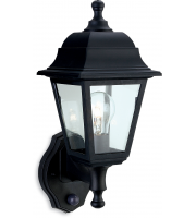 Firstlight Oslo Wall Lantern with PIR (Black Resin)