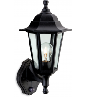 Firstlight Malmo Lantern with PIR (Black Resin)