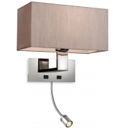 Firstlight Prince 2 Light Wall Light (Oyster)