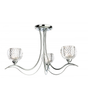 Firstlight Blanche 3 Light Flush Fitting (Chrome)