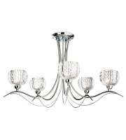 Firstlight Blanche 5 Light Flush Fitting (Chrome)